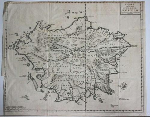 SOLD Kaart van het Eyland Borneo