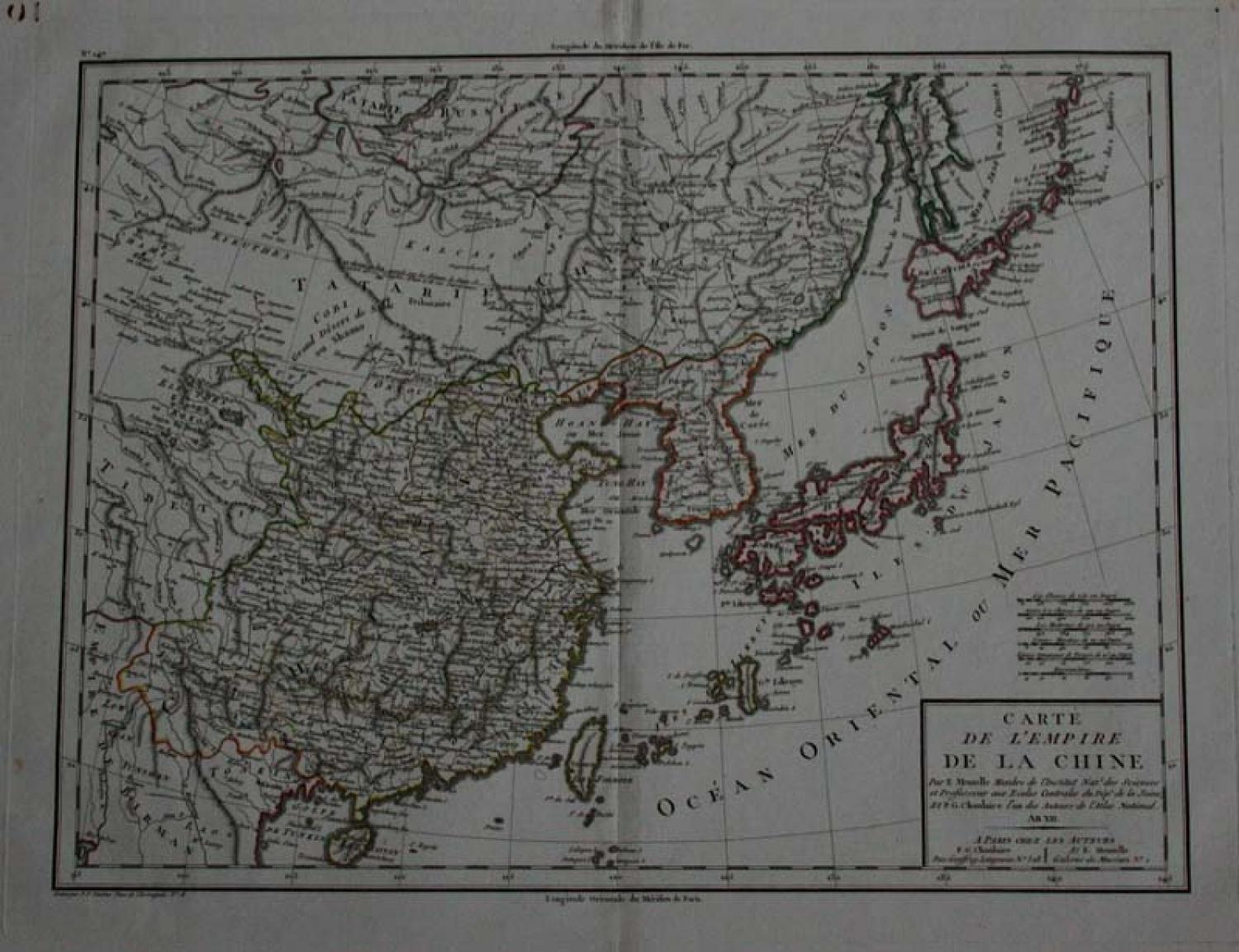 SOLD Carte de L'Empire de la Chine