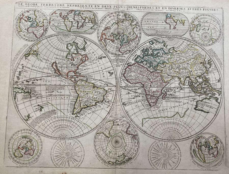 Coronelli / Nolin -  (6 maps) World & Continents