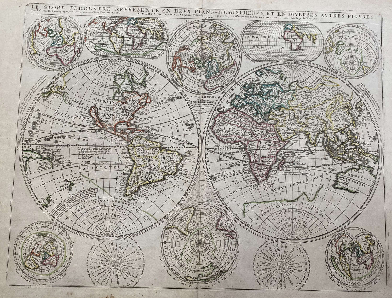 Coronelli / Nolin -  (6 maps) World & Continents