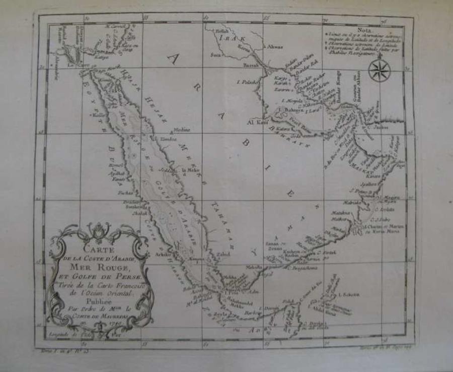 Bellin - Carte de la Coste d'Arabie,