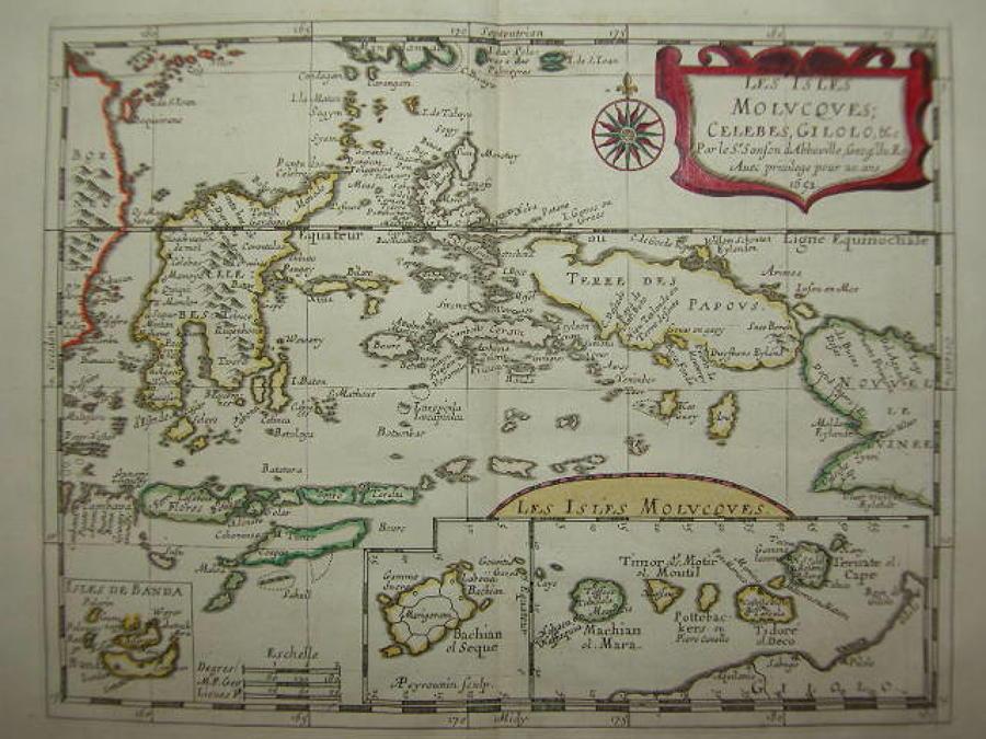 Sanson - Les Isles Molucques; Celebes, Gilolo