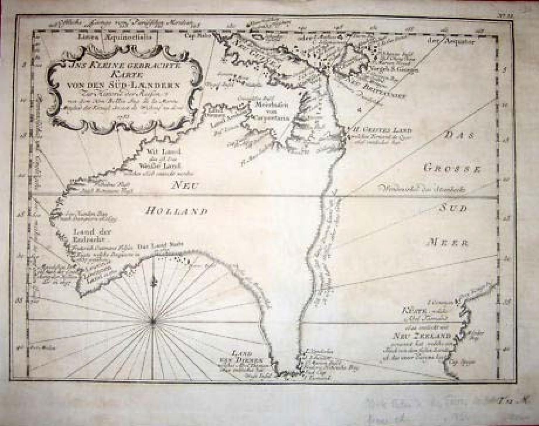 Bellin / Scheley - Karte von den Sud-Laendern