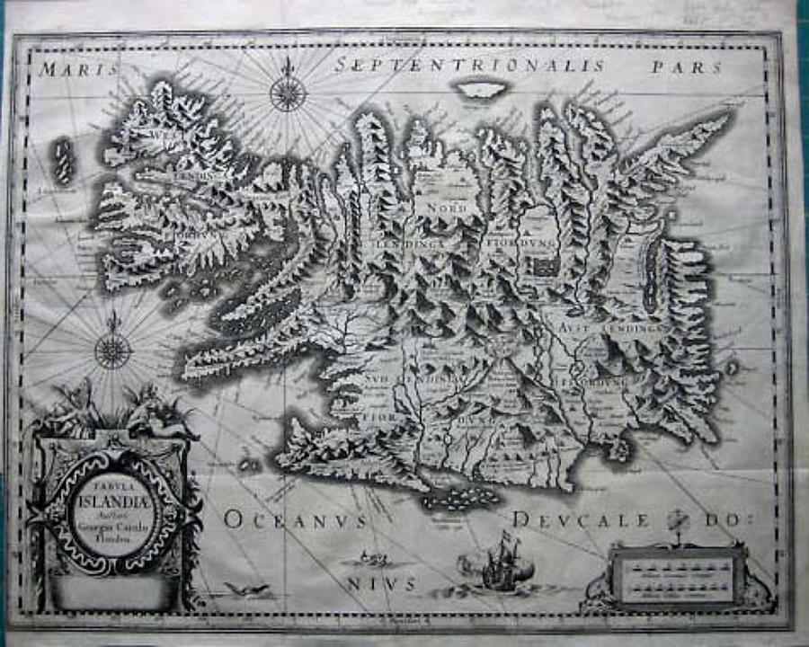 Hondius - Tabula Islandiae