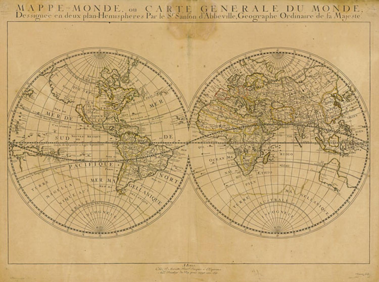 SOLD Mappe-Monde, ou Carte Generale du Monde