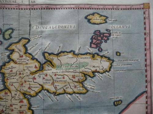 SOLD Tab I Europae, Continens Albion, Britanniam et