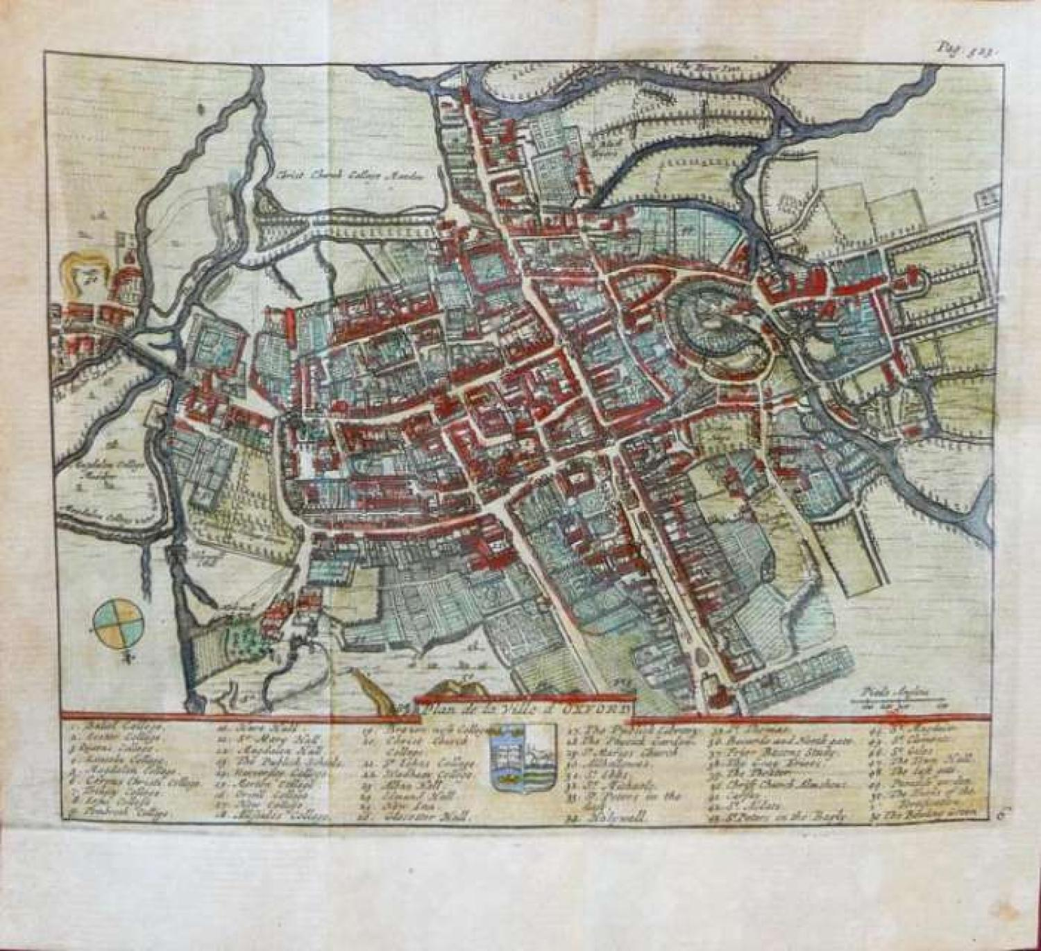 SOLD Plan de la Ville d' Oxford