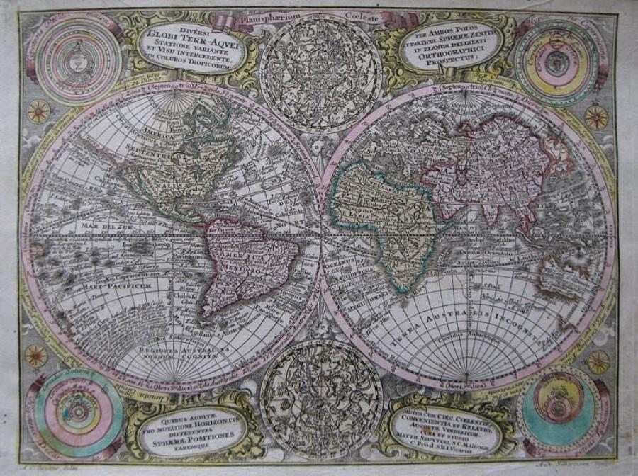 Seutter - Diversi Globi Terr-Aquei