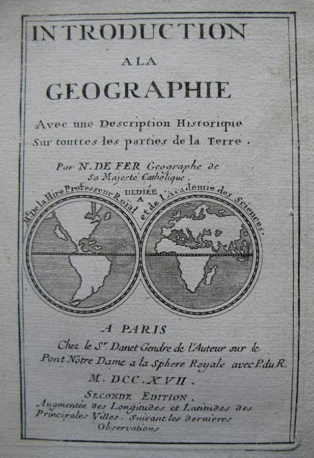 De FerTitle Page:INTRODUCTION A LA GEOGRAPHIE
