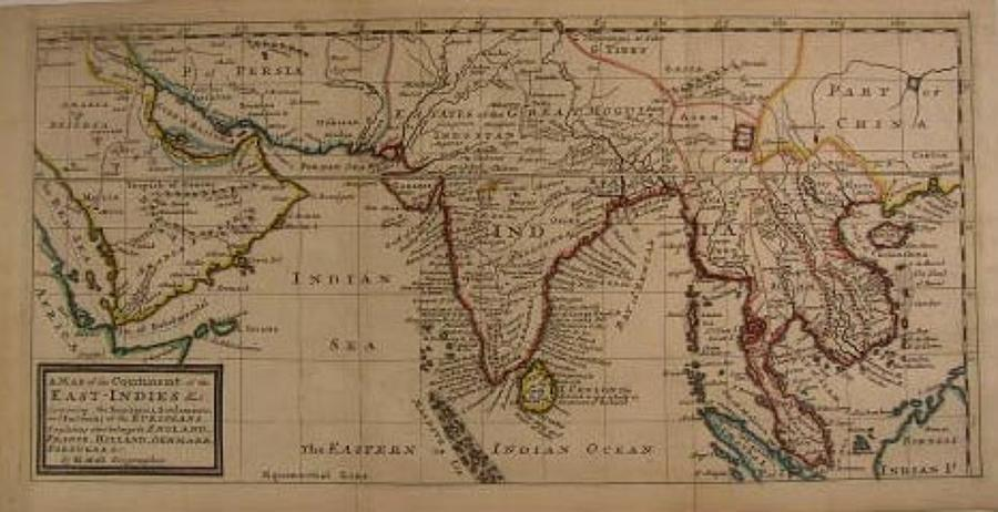 Moll - Continent of the East-Indies &c.