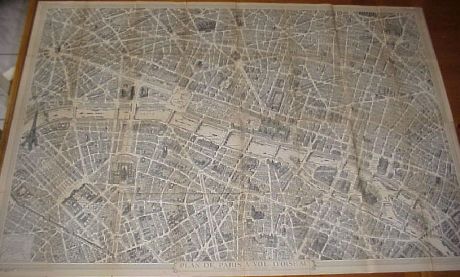 Blondel La Rougery - Plan Paris vol d'Oiseaux
