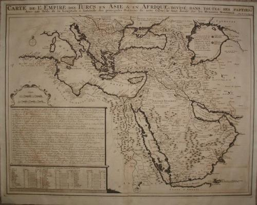 Chatelain - Carte de L' Empire des Turcs
