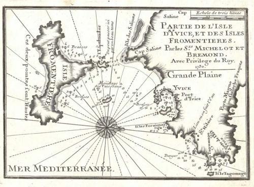 SOLD Partie d'isle d'Yvice et des isles Fromentieres