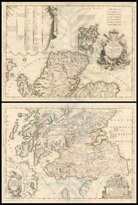 SOLD (Set of 2) Scotia - Parte Settentrionale / Parte Meridionale