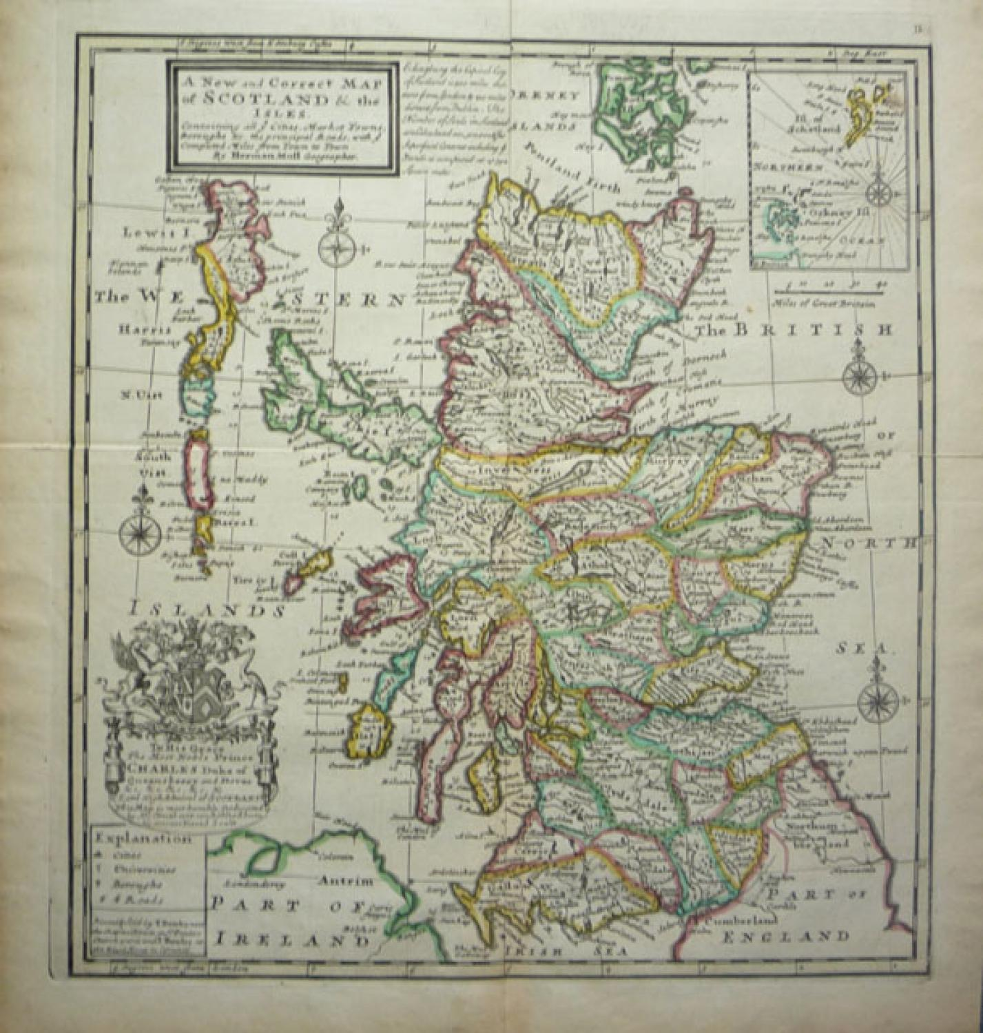 Moll  new correct map of Scotland & the Isles
