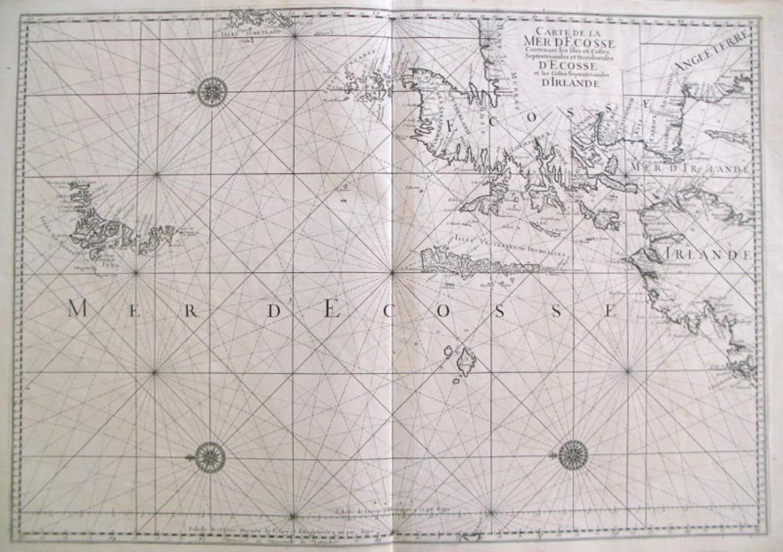 Jaillot / Bellin - Carte de la Mer d' Ecosse