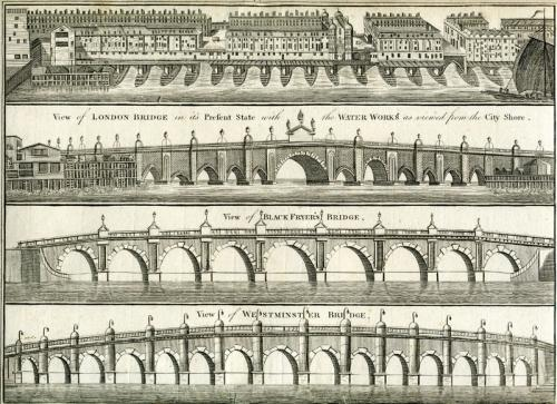 View of London Bridge as it appeared Before the Houses were Pulled Down..