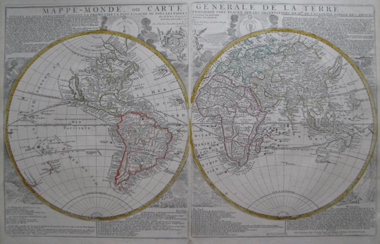 De Fer - Mappe-Monde (plus continents)