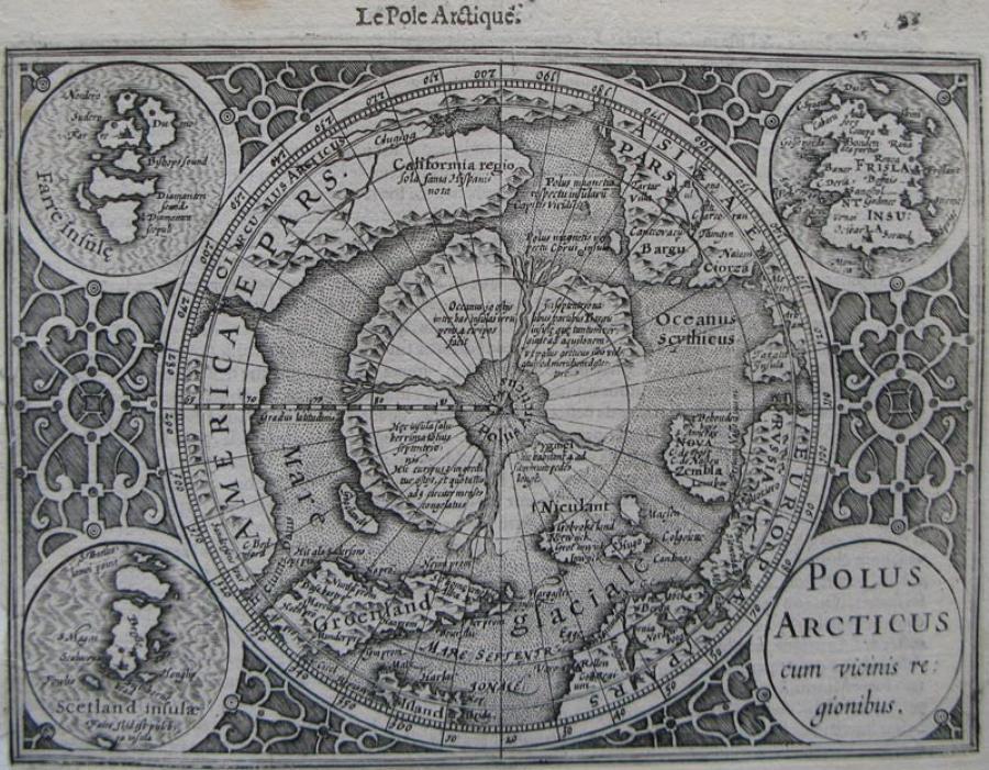 Mercator - Polus Arcticus cum vicinis