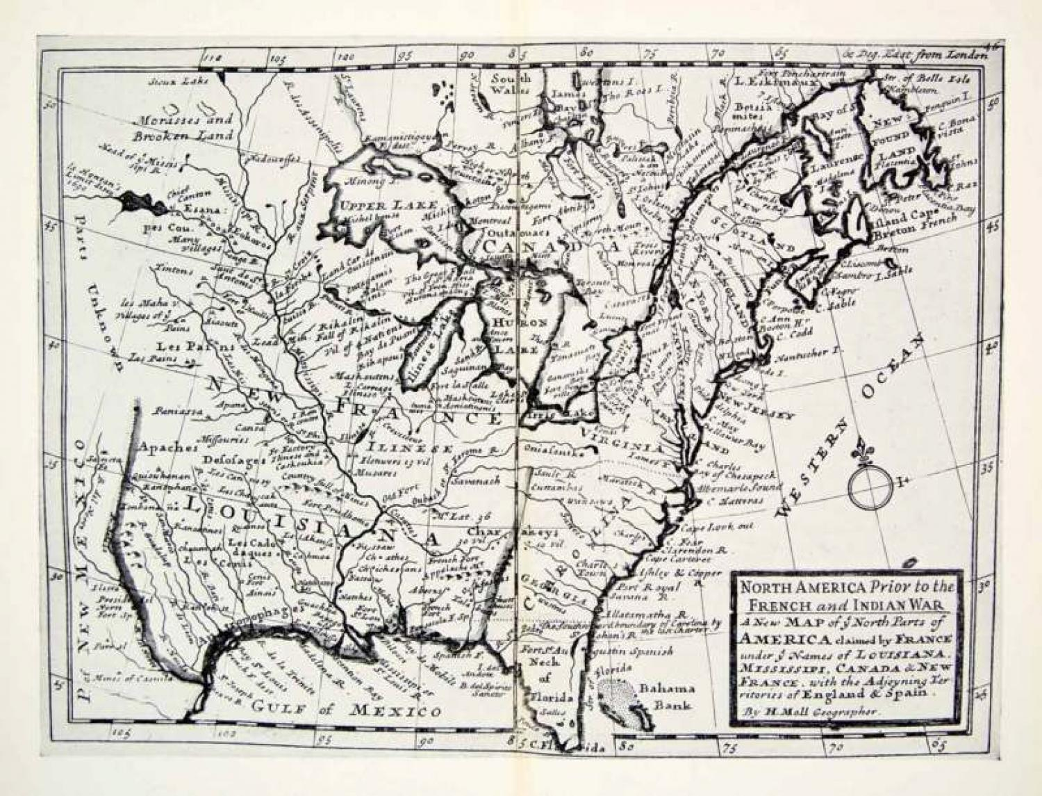 Moll -  New Map of the North Parts Of America
