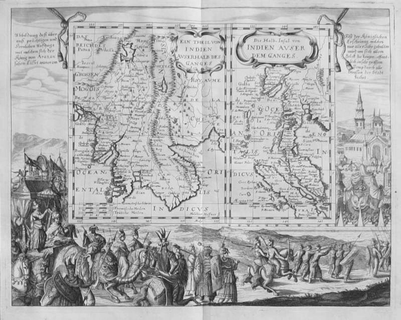 SOLD Die Halb-Insul von Indien auser dem Ganges