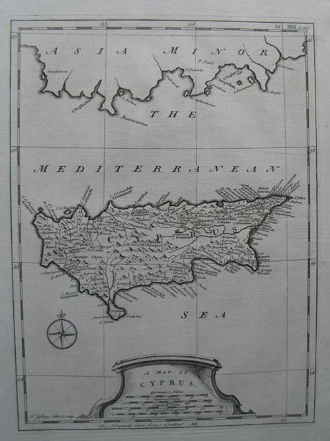Jeffreys - A Map Of Cyprus