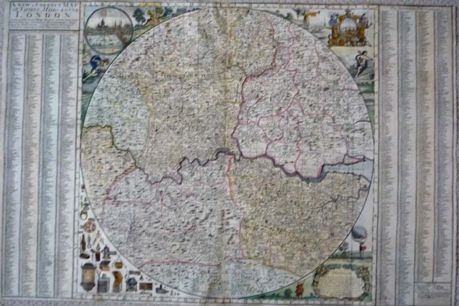 Willdey Correct Map Thirty Miles Round London
