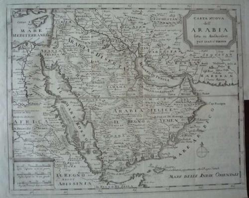 Tirion - Carta nuova dell'Arabia