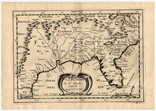 La Floride Par N. Sanson d'Abeville Geographe ordinaire du Roy