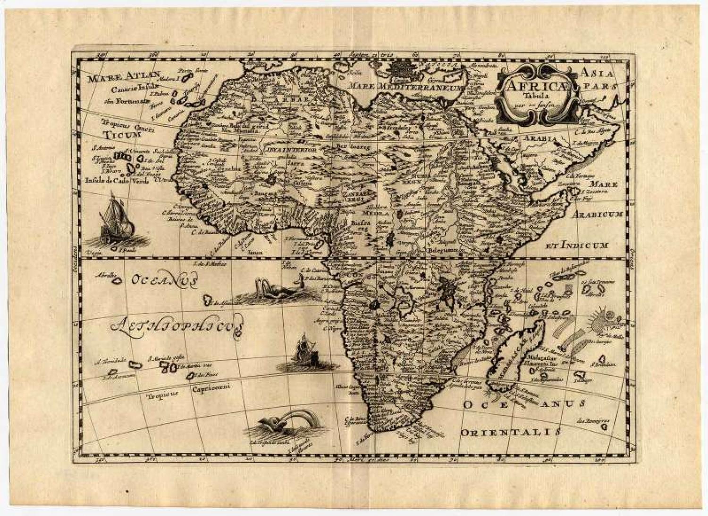 Africae Tabula par N. Sanson