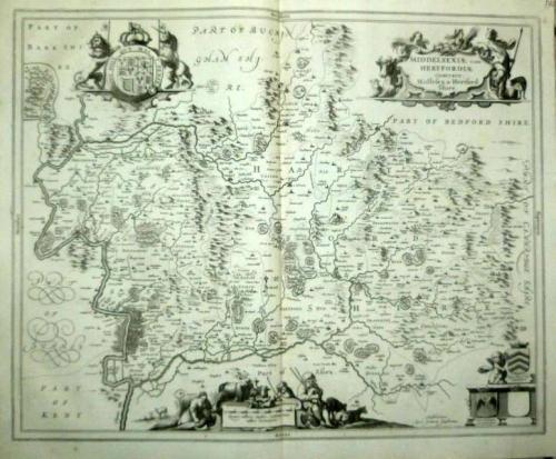Jansson - Middelsexiae cum Hertfordiae