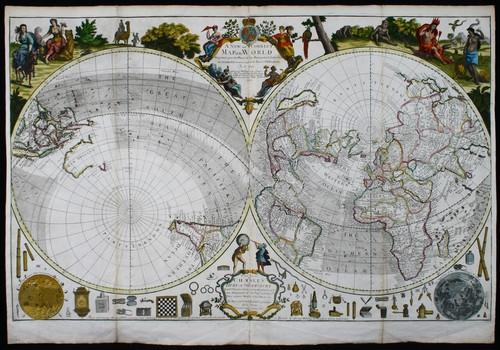 SOLD A New and Correct Map of the World projected upon the Plane of the Horizon