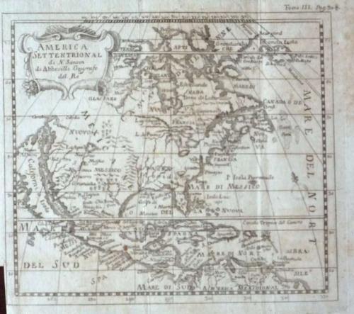 America Settentrional di N. Sanson di Abbeville