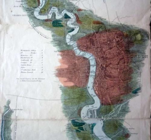 Tombleson's Panoramic Map Of The Thames & Medway