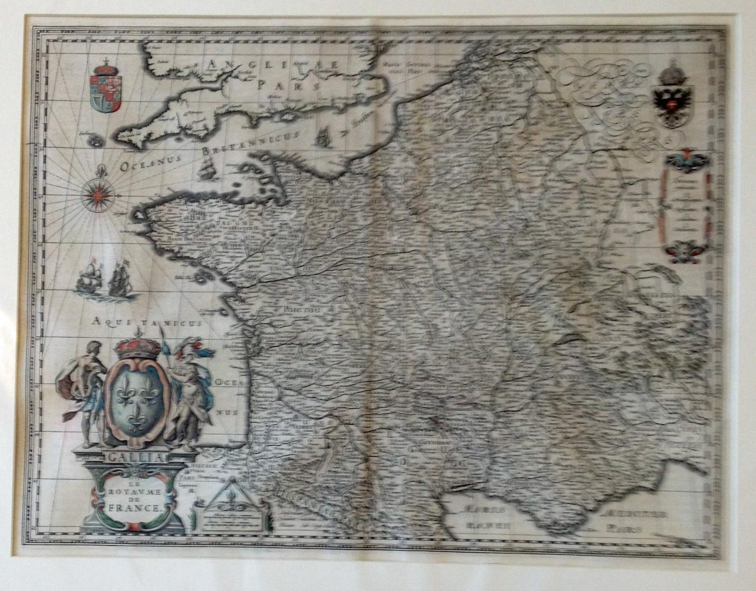 Blaeu - Gallia. Le royaume de France.