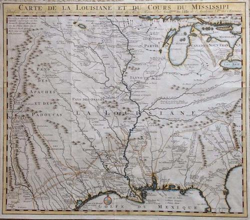 De L'Isle -  Louisiane et Cours du Mississipi