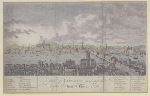 A View of London as it appeared before the dr