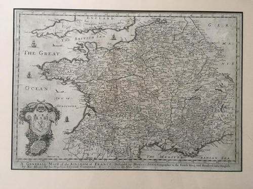 Blome - Generall Map of the Kingdom of France
