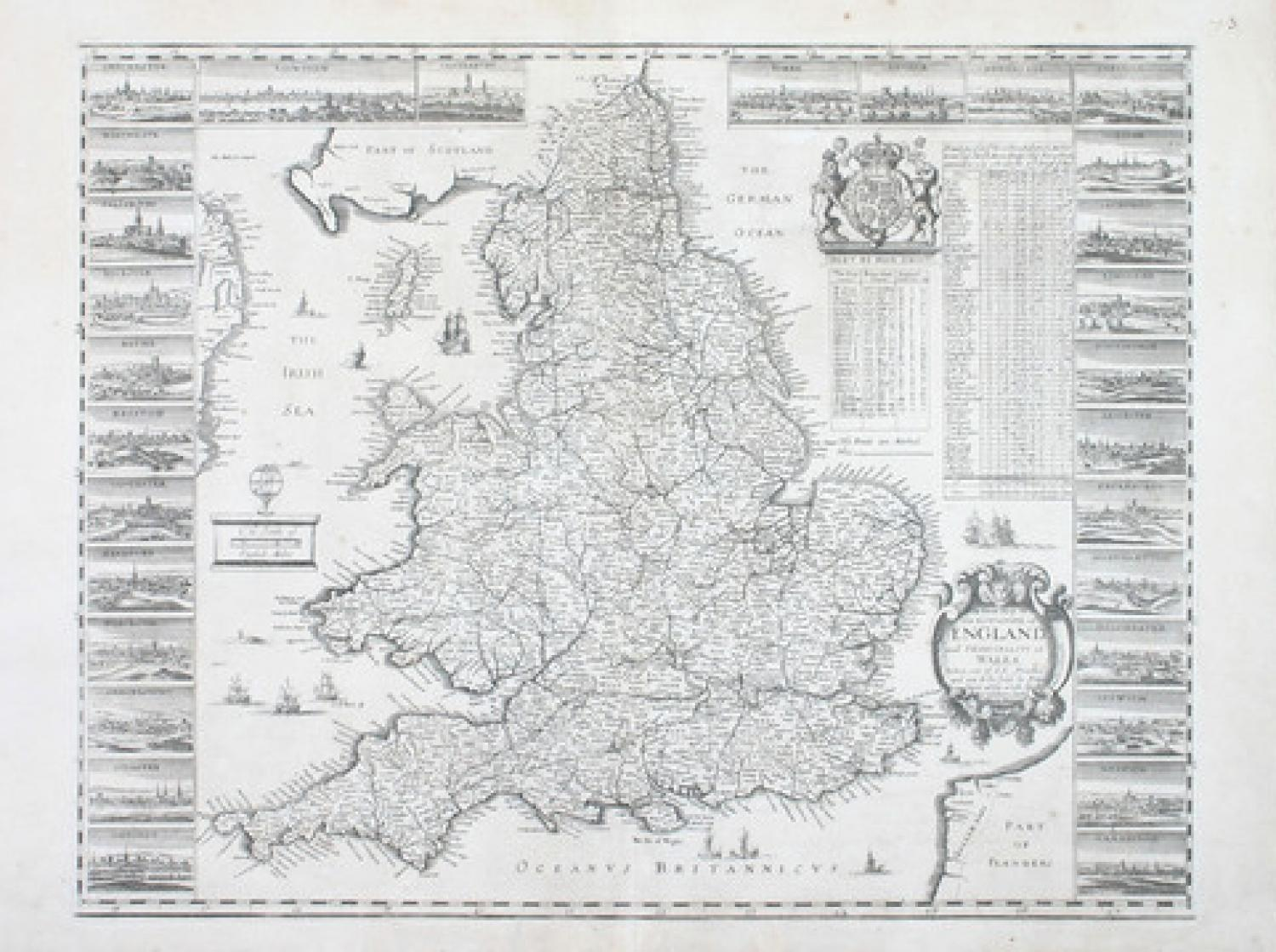 SOLD A New Map of the Kingdome of England and Principality of Wales