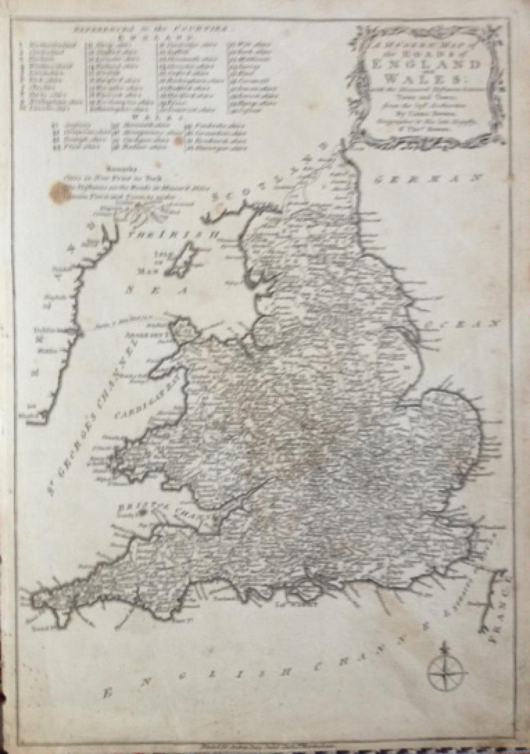 Bowen - Map of the Roads of England and Wales
