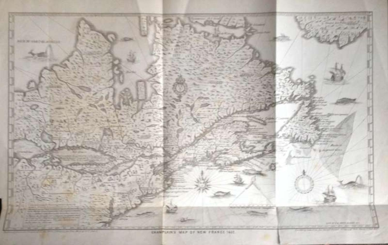 SOLD Champlain's Map of New France