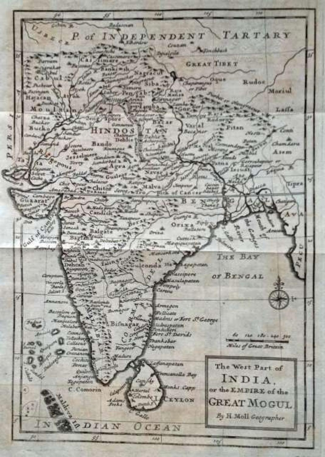 SOLD The West Part Of India or the Empire of the Great Mogul