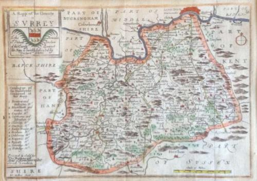 Blome - A Mapp of the County of Surrey