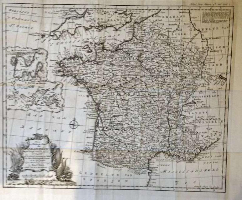 Kaart van Frankryk