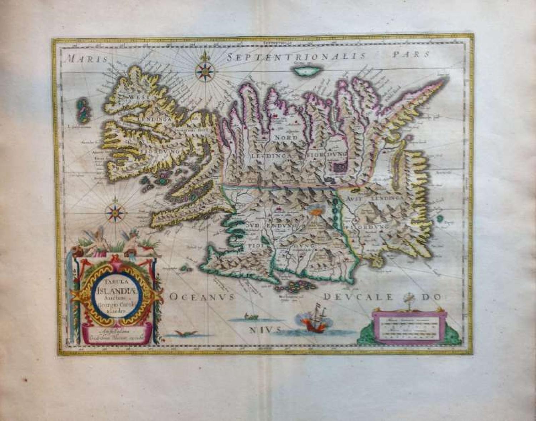 SOLD Tabula Islandiae Auctore Georgio Carolo Flandro