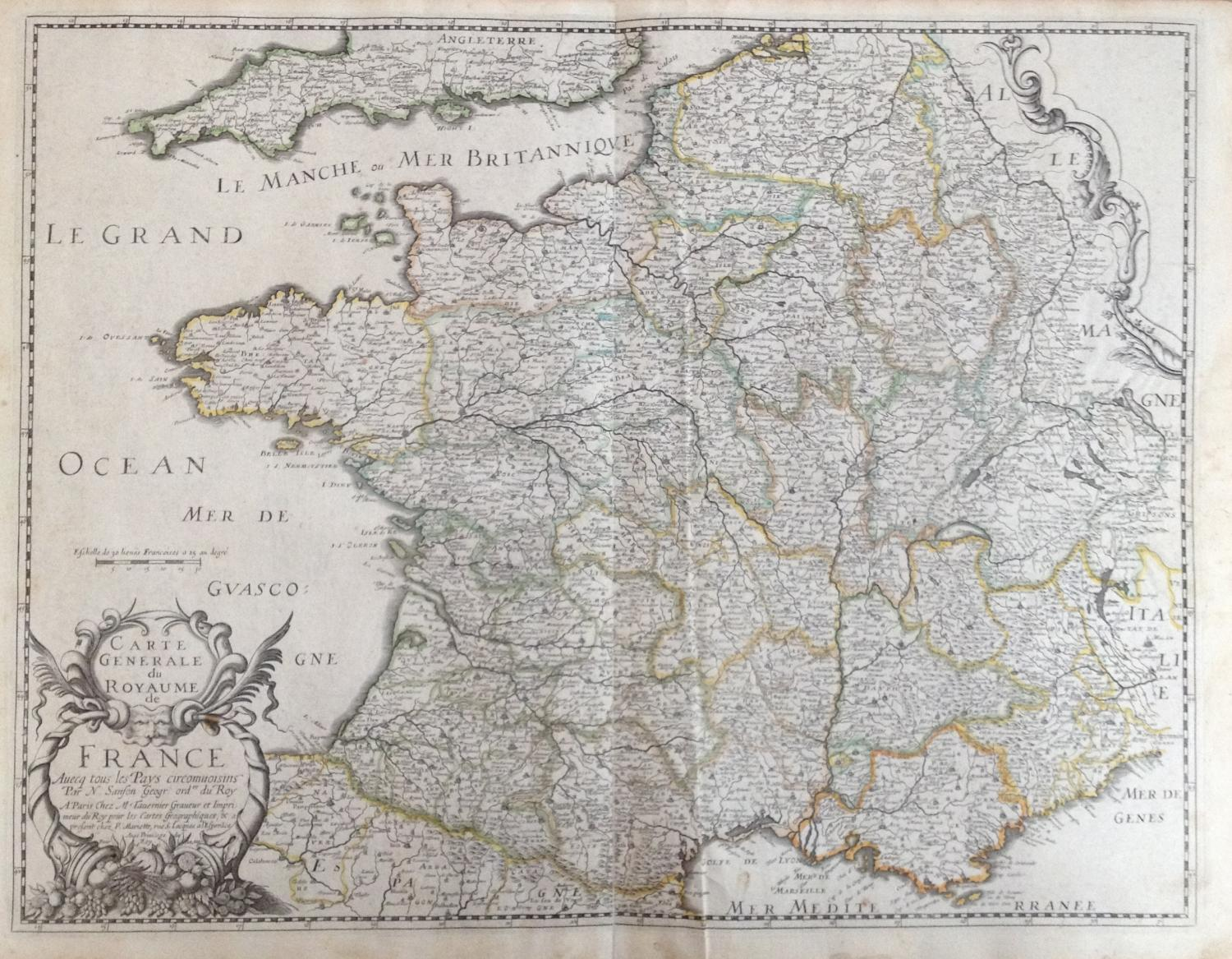 Sanson - Carte Generale Royaume de France