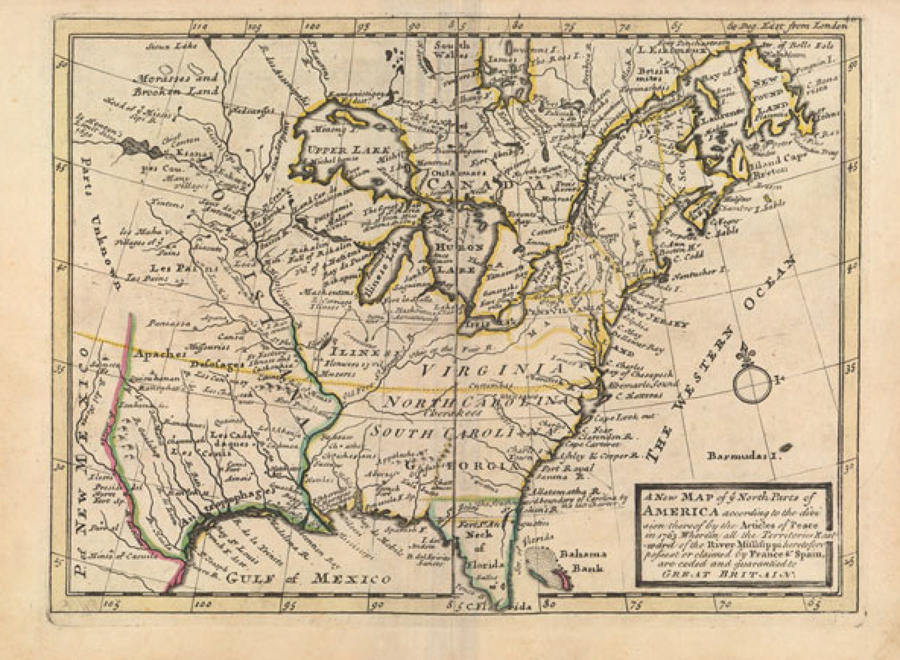 Moll - A New Map of Ye North Parts of America