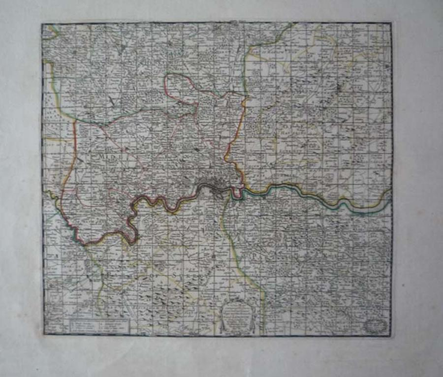 Moll - Map..Towns, Gentleman's Houses London