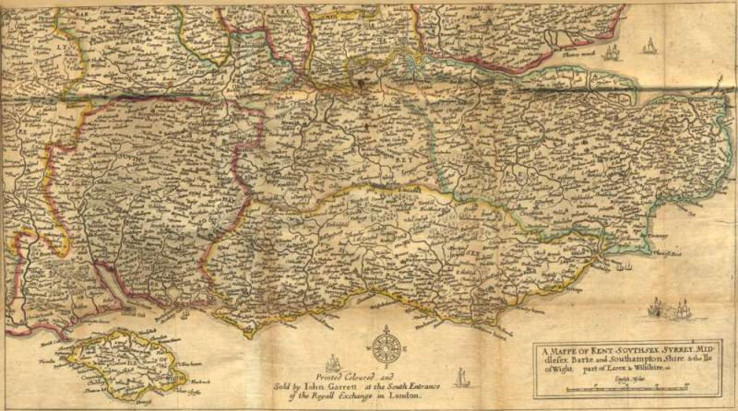 Hollar - (Set of 2) A Mappe of Kent, Southsex