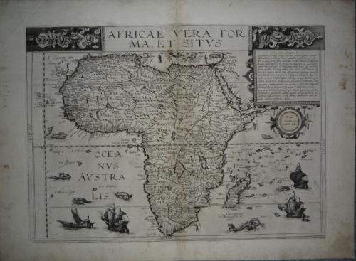 De Jode: Africae vera forma, et situs